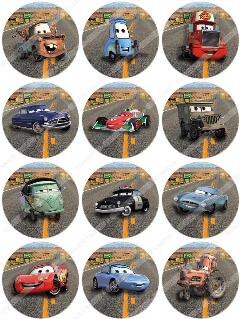 Edible Cake Images Disney Cars : Cakeshop 12xDisney Pixar Cars Edible Cake Toppers eBay